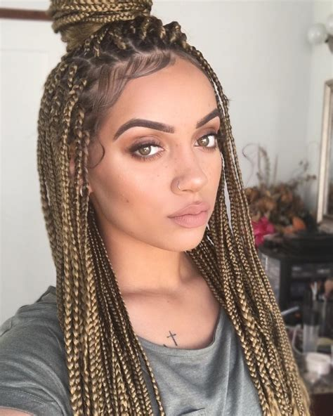 blonde hairstyles braids brown blonde box braids m a n e pinterest blonde box