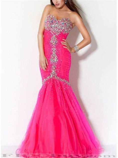 Dress Mermaid Pink pearl pink mermaid gowns