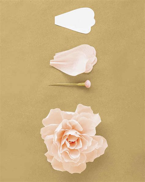 Flowers With Crepe Paper - how to make crepe paper flowers martha stewart