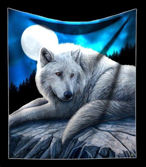 Decke Wolf kuschelige decke mit wolf guardian of the