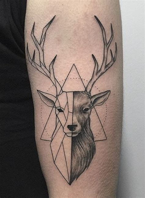 stag tattoo best 25 deer ideas on geometric