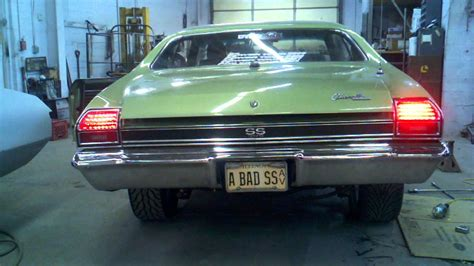 1970 chevelle tail lights digi tails l e d tail lights on 69 chevelle ss youtube