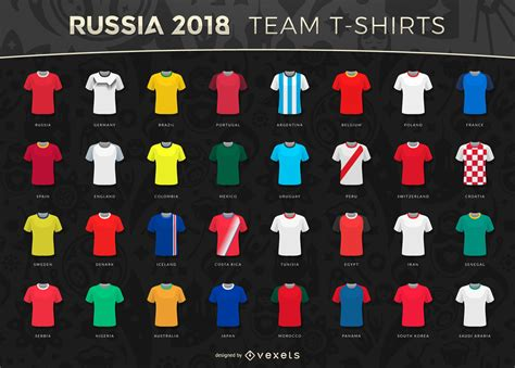 T Shirt Time Team russia 2018 world cup team t shirts vector