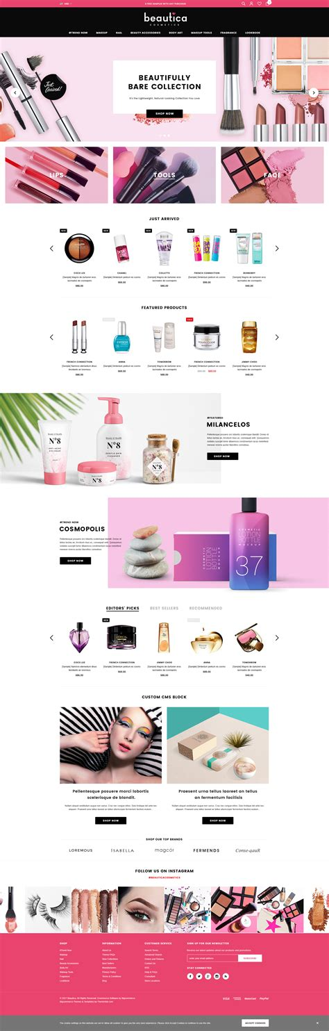 shopify themes beauty beautica responsive health beauty shopify template