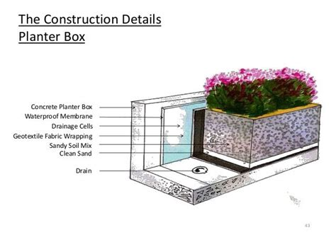Planter Box Drainage by Planter Box Construction Search 11gra External