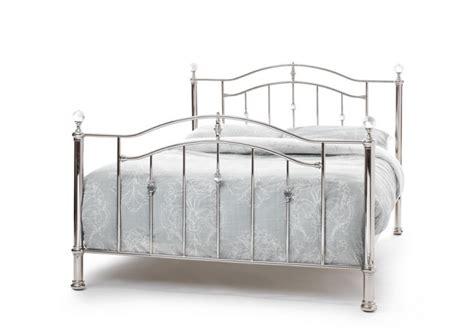 serene ashley 6ft super king size nickel metal bed frame