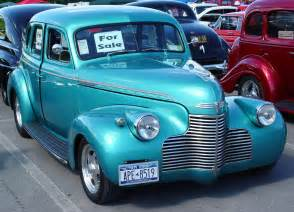 1940s Chevrolet 1940 Chevrolet 4 Door Sedan Green Front Angle
