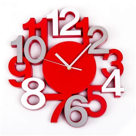 Bien Horloge A Poser Sur Un Meuble #4: pendule-silencieuse-3d-rouge.jpg