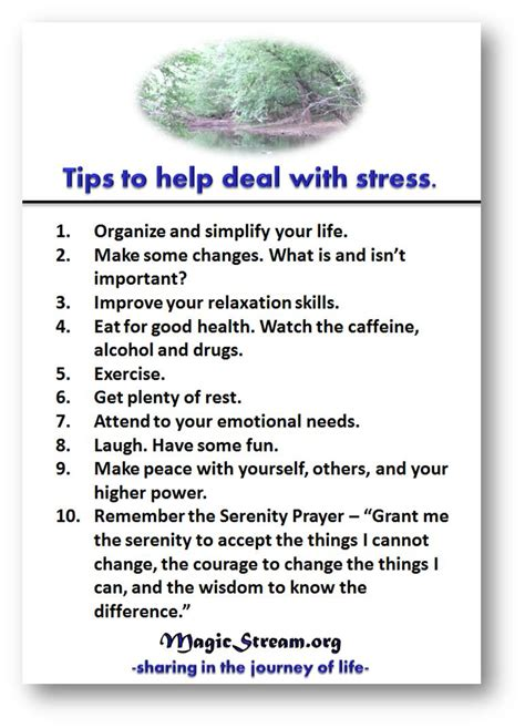tips on dealing with stress selfhelp recovery stress self help recovery