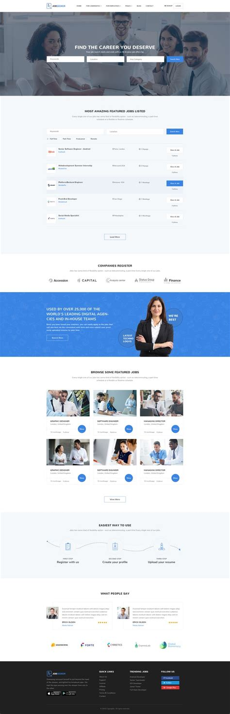 themeforest jobcareer best 25 job portal ideas on pinterest job portal sites