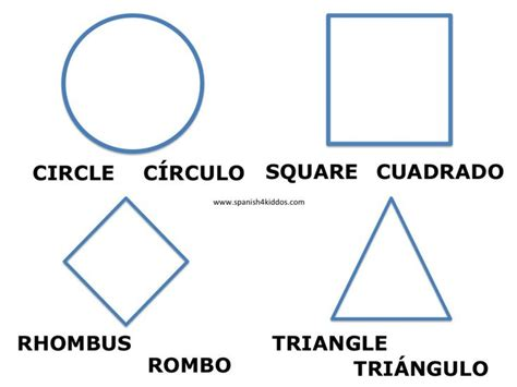 printable shapes in spanish 103 best free spanish worksheets images on pinterest