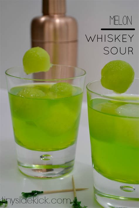 Happy Hour Midori Sour by St Patty S Day Green Cocktail Melon Whiskey Sour