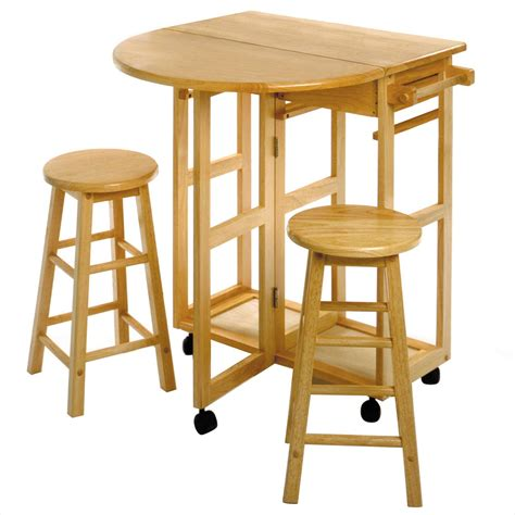 kitchen table with stools underneath terrific space saving table and chairs designs decofurnish