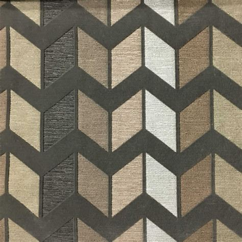 modern house interiors with dynamic texture and pattern ziba chevron pattern cotton blend upholstery fabric by