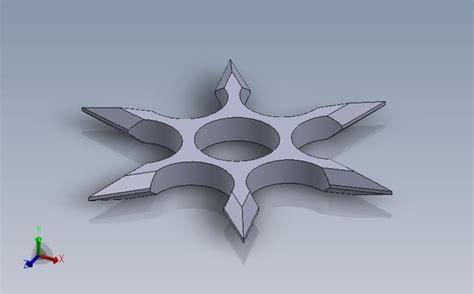 3d Printed Shuriken Fidget Spinner By Gilson Fabrication Pinshape 3d Printed Fidget Spinner Template