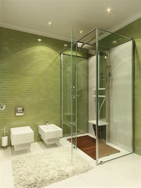 green glass room green tile bathroom interior design ideas