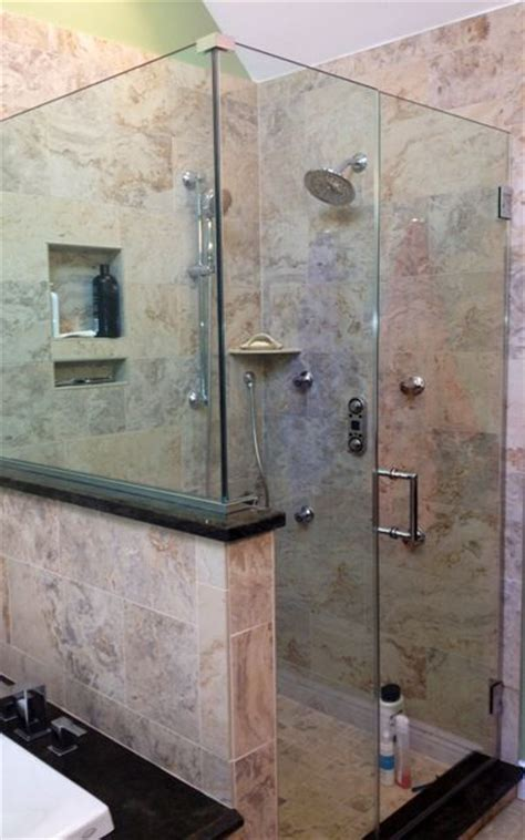 Walk in shower with custom tile. Master Bathroom Remodel Pinterest