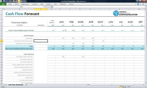 cash flow excel spreadsheet template haisume