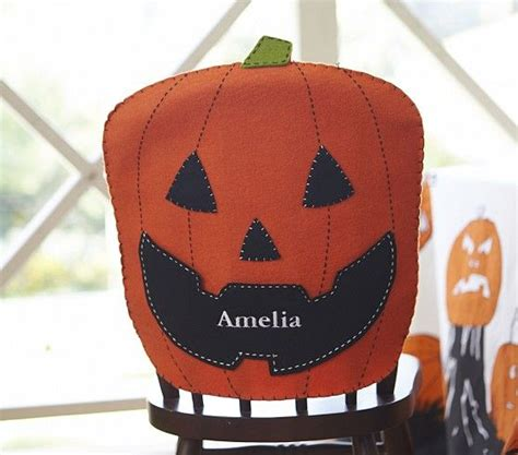 Pumpkin Chair Covers by Personalized Pumpkin Chair Cover Family