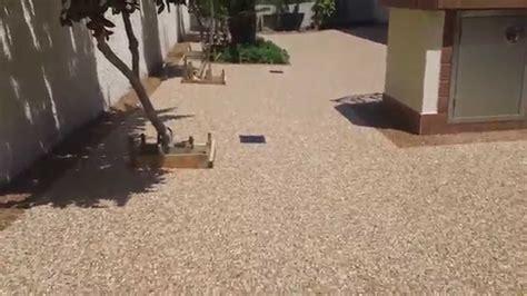 installing pebbletec floor system  patio  stone