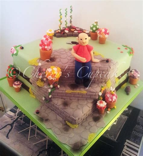 Flower Garden Cake Daddy S Birthday Pinterest Flower Garden Cake Ideas