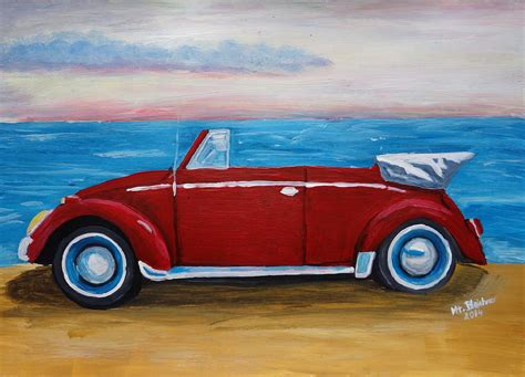 volkswagen painting the vw bug series the volkswagen bug at the