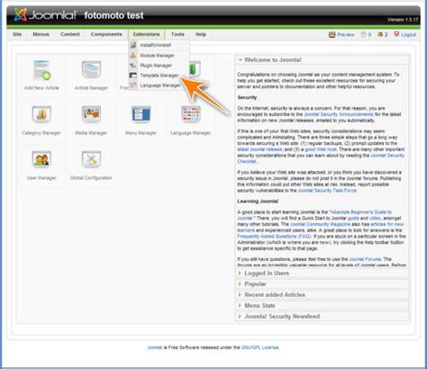 theme editor joomla fotomoto how do i install fotomoto on joomla