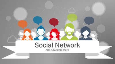 Social Network A Powerpoint Template From Presentermedia Com Social Studies Powerpoint Templates