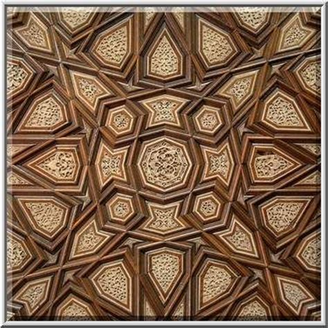 pattern design qatar polygonal ornament on a wood panel in museum of islamic