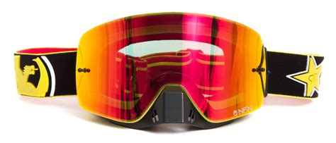 rockstar motocross goggles mx nfxs rockstar energy ionized yellow