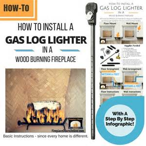 fireplace gas starter pipe installation
