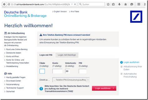 deutsche bank iban phishing warnung internetbetr 252 ger geben sich als