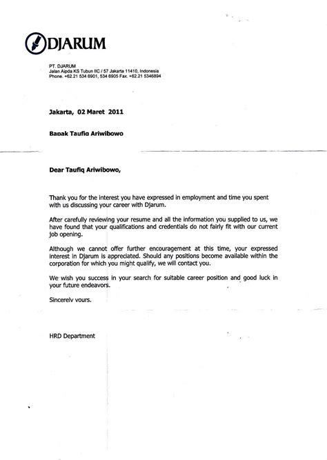 Offer Letter Kerja Jejak Karir 171 Jejak Bruang