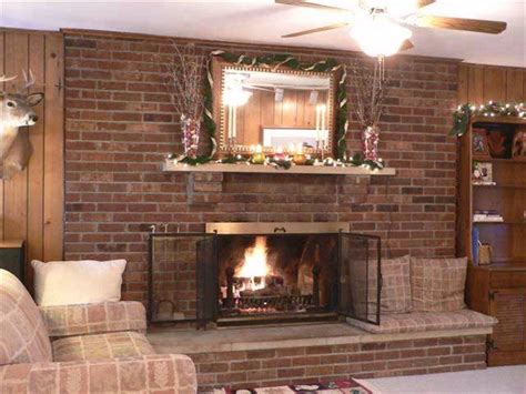 living room ideas with brick fireplace interior design