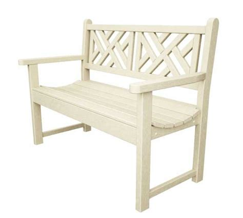 chippendale garden bench chippendale 48in garden bench recycled outdoor furniture