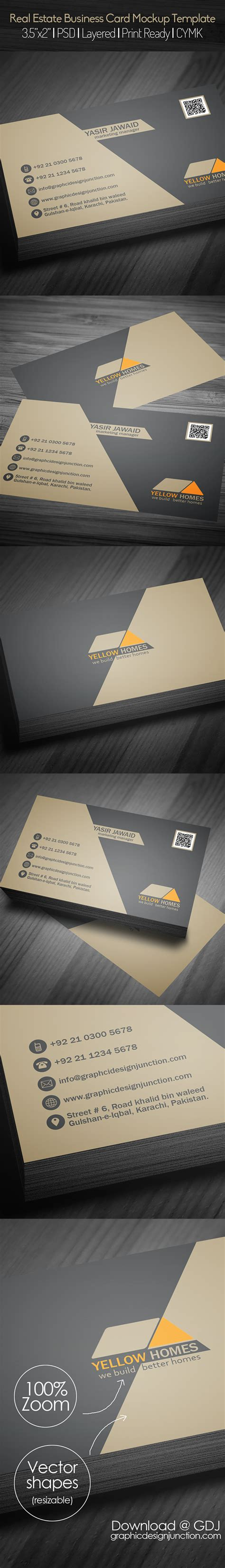business card template psd behance real estate business card psd template freebie on behance