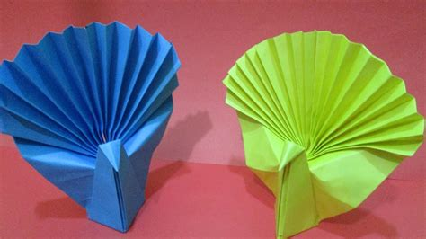 How To Make Origami Peacock - how to make an easy origami peacock how to make paper