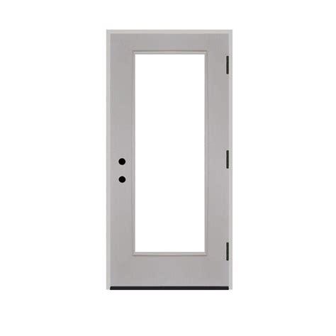 24 Inch Exterior Door Home Depot Steves Sons 24 In X 80 In Premium Lite Primed White Fiberglass Prehung Front Door Fgfl