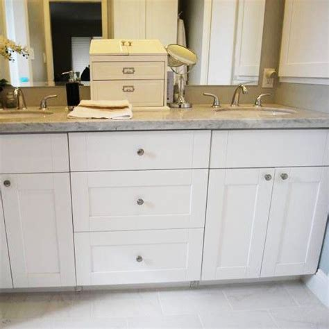 master bath vanity using kitchen cabinet bases image result for frameless shaker cabinets master bath