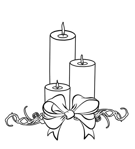free coloring pages of candle drawing
