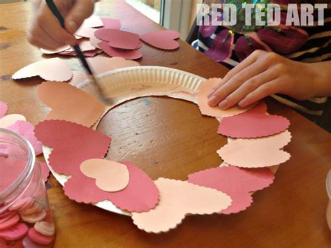 valentine decorations to make at home valentines heart collage wreath red ted art s blog