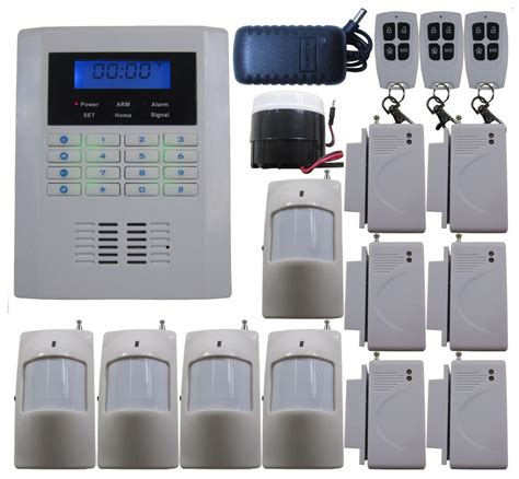 j25 4 bands gsm pstn wireless home security alarm