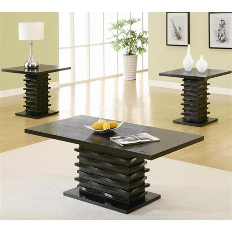 Coaster Furniture 701514 Contemporary 3 Pieces Coffee Contemporary Coffee And End Tables