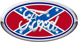 Rebel Flag Ford Emblem Ford Confederate Oval Decal