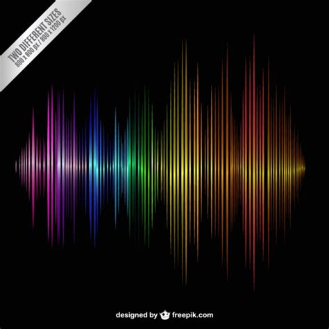 sound wave colorful sound wave vector free