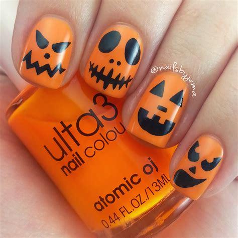 nail pumpkin nails by jema carved pumpkin nails with tutorials