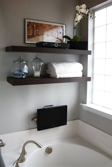 shelf over bathtub pin by amy roberts raising arrows on home decorating