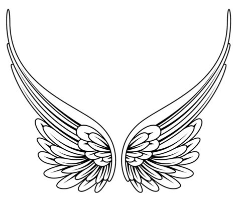 angel wing tattoo designs free traceable butterfly wings tribal wings high