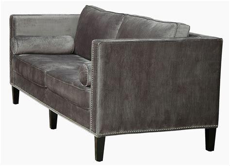 grey velvet sofa sale cooper grey velvet sofa from tov s29 coleman furniture