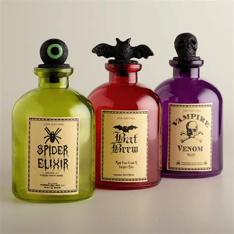 Track Lighting Ideas For Kitchen by Halloween Potion Bottles Set Of 3 World Market